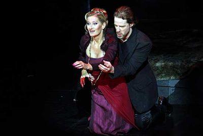 Rálik Szilvia és Cser Krisztián A Kékszakállú herceg vára című Bartók-operában